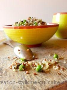 Quinoa aux petits pois et graines