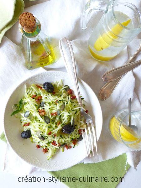 Salade fraîcheur de courgette crue