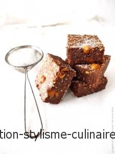 Brownies sésame et noisette - Ma Vie sans gluten