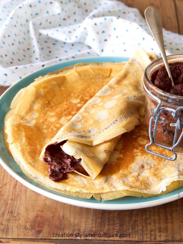 crêpes farine châtaigne nutella 1