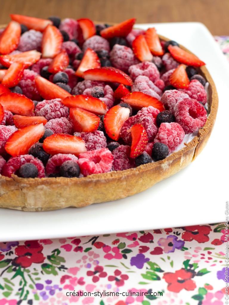 tarte sans gluten aux fruits rouges et crème de coco-3